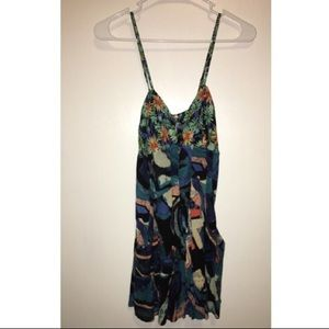 Free People bow floral romper